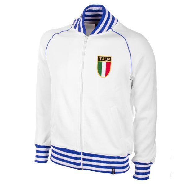 Italië Retro Trainingsjack 1982 - Wit/Blauw